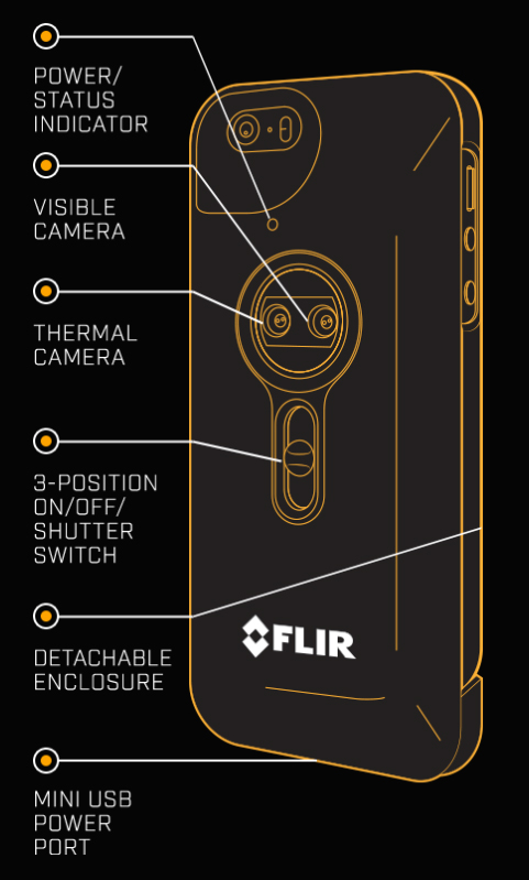 New flir one thermal imager case for iphone thermalvideo blog flironespecs fandeluxe Choice Image