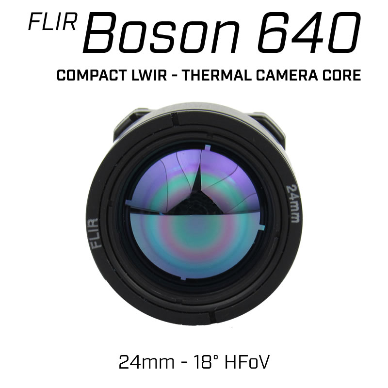 Teledyne FLIR BOSON 640 x 512 24.4mm 18° HFoV - LWIR Thermal Camera Core