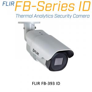 FLIR FB-393-ID 320 x 240 3.7MM 93° HFOV - LWIR Thermal Analytics Security Camera