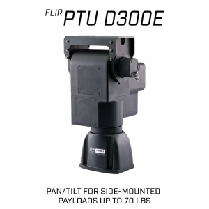 FLIR D300E Series Pan-Tilt for Side-Mounted payloads up to 70 lbs.