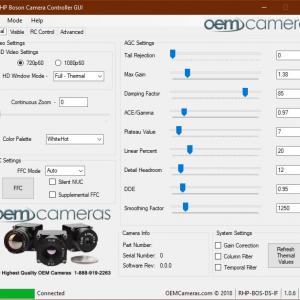 RHP Boson GUI Software Interface