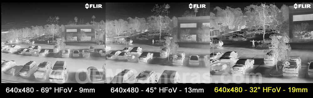 FLIR VUE PRO R 640 Thermal Imager 19mm Lens - 30/60Hz Image Comparison